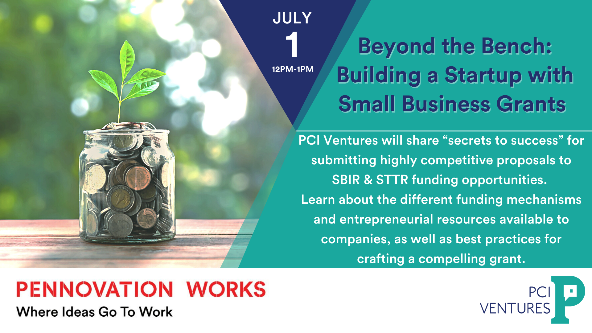 Beyond the Bench: Building a startup with small business grants