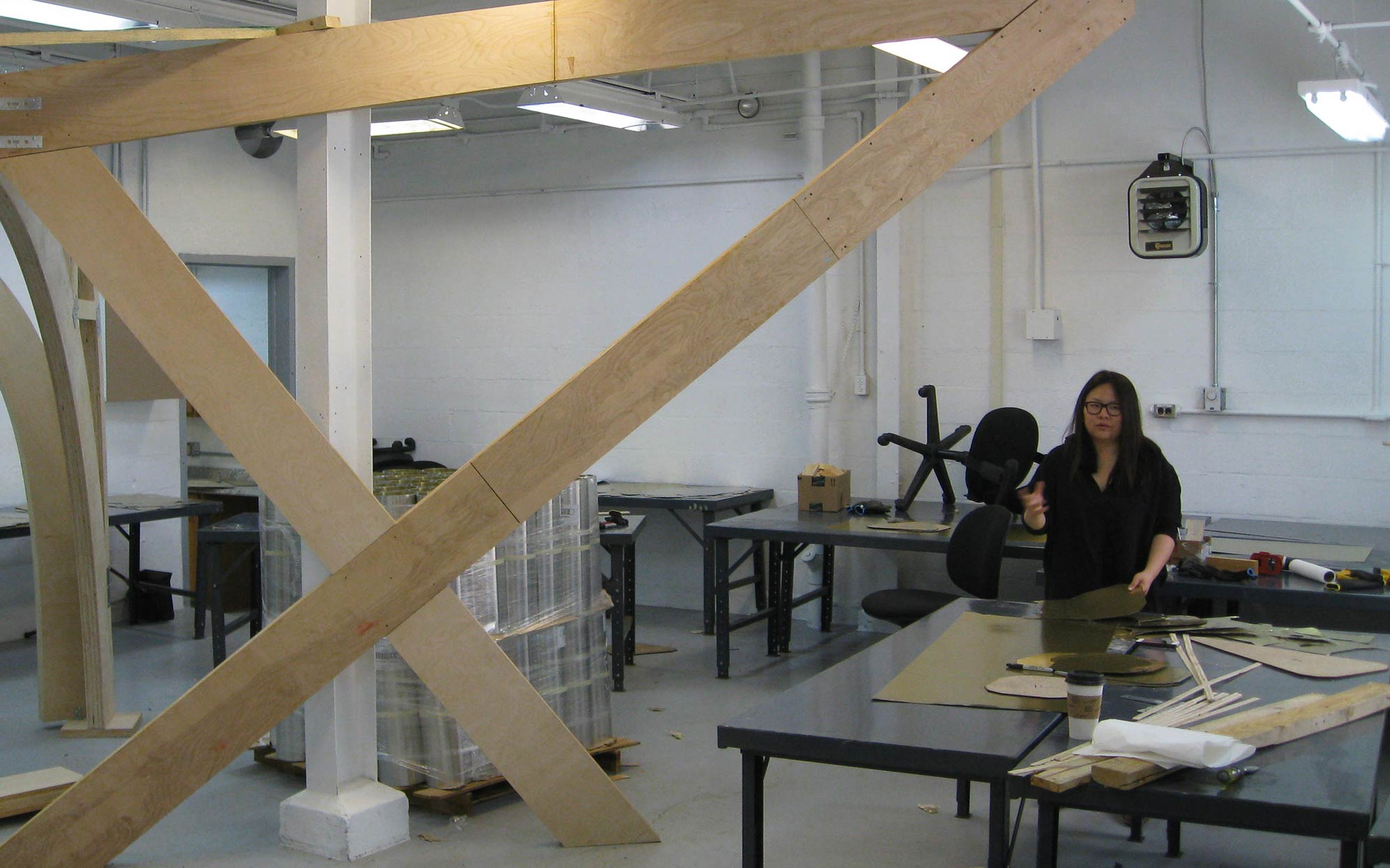 Penn graduate architecture students use this studio space to design and construct