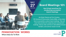 Board Meetings 101 :tips & best practices for conducting successful board meetings