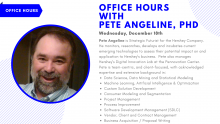 graphic with Pete Angeline's headshot and text of his expertise