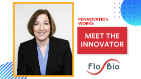 "headshot of Jerri Ann Thatcher with text ""Meet the Innovator"" and FloBio's logo"