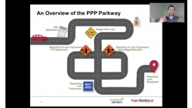 screenshot of a slide from the presentation that shows a winding road