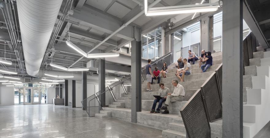 First floor social space and central bleacher